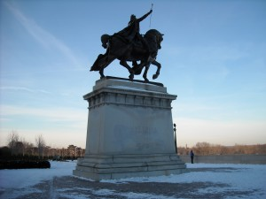 Statue of Saint Louis at Forest Park